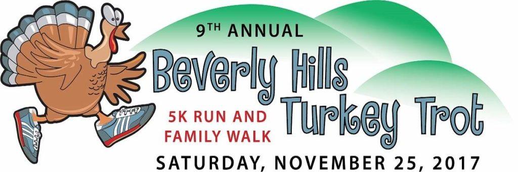 Beverly Hills Turkey Trot 5K Race and Walk is Nov. 25, 2017