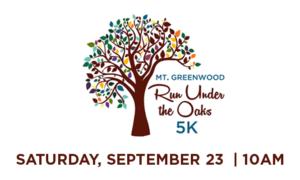 Run Under the Oaks 5K is Sept. 23, 2017, in Mt. Greenwood Park